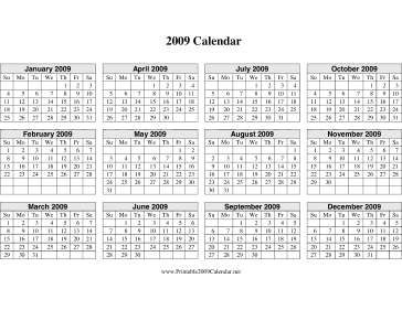 ... 2016 Calendar On One Page Horizontal | Calendar Template 2016